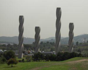 Columns monument at the Universitat Autònoma de Barcelona